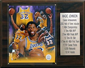 NBA Magic Johnson Los Angeles Lakers Career Stat Plaque by C&I Collectables