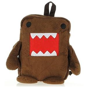 kun domo bolsa marrón de felpa mochila de dibujos animados suave