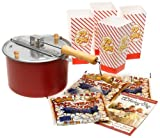 The Original Whirley Pop Stovetop Popcorn Popper Theater Style Popcorn Set