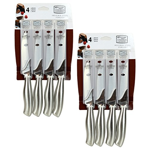 Chicago Cutlery Insignia2 Steel 4-Piece Steak Knife Set (2-Pack) (Chicago Steel compare prices)