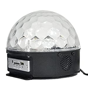 Cleeacc LED Dome Light Sound Activated Music Stage Light Bar Party Backlights Sound Controller Light Revolving Colorful Stage Lighting