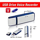 Best USB Flash Drive- USB Voice Recorder- Memory Stick- Thumb Drive- Dictaphone- 8GB- Pendrive - Compatible with Windows, Mac, PC- 1 Year