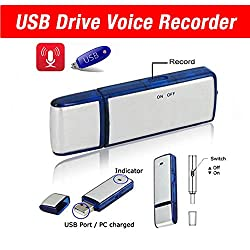 Best USB Flash Drive Mini Digital Audio Voice Recorder- Dictaphone- Memory stick- 8GB- Data pendrive activated- Compatible with windows, mac, pc- High speed- Disk- Spy gear gadget- Discreet, for professioal and students- Manual- 1 year warranty