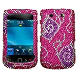 Asmyna BB9800HPCDM110NP Dazzling Luxurious Bling Case for BlackBerry Torch 9800 - 1 Pack - Retail Packaging - Tattoo Butterfly