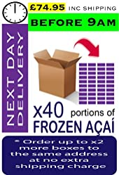 AÇAÍ Frozen - Especial Grade x 40 Portions (Next Day - Before 9am)