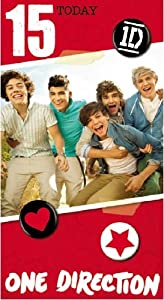 Official One Direction 1d Birthday Card - Age 15 from Global Merchandising