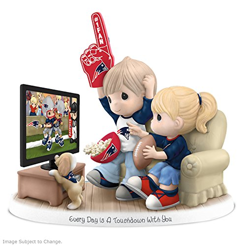 Figurine: Precious Moments Every Day Is A Touchdown With You New England Patriots Figurine by The Hamilton Collection