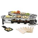 Ultratec-Cuisine-Raclette-RG1200S-Gril-articul-Duo-4-four--Raclette-avec-Pierres-naturelles-de-Cuisson-8-Personnes-1200-W