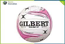 Gilbert pulso XT - formación NETBALL WEHITE/rosa talla 5