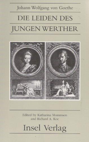 Die Leiden Des Jungen Werther (Suhrkamp/Insel series in German literature)