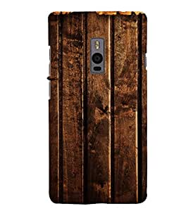 Fuson Premium Back Case Cover Designed wood With Purple Background Degined For One Plus Two::One Plus 2::One+2