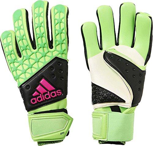 Adidas Ace Zones Pro Guanti Unisex, Verde/Nero/Rosa (Ah7803-Versol/Negbas/Rosimp), 8