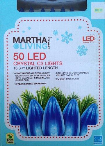 Martha Stewart Living Blue Led C3 Crystal 50-Light Set
