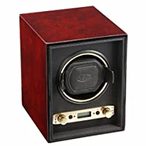 Wolf Designs Unisex 453810 Meridian Collection 2.7 Single Burlwood Watch Winder