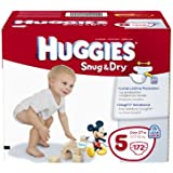 Huggies Snug and Dry Diapers Economy Plus, Size 5, 172 Count