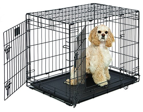 MidWest Life Stages Folding Metal Dog Crate (Midwest Double Door Crate compare prices)