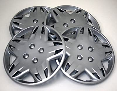 TuningPros WSC-509S14 Hubcaps Wheel Skin Cover 14-Inches Silver Set of 4