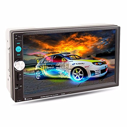 Feccoe 7 Inch Car Stereo MP5 MP3 Player Touch screen Bluetooth Radio USB AUX Audio Video Play Rear View (Portable Dvd Player Bluetooth compare prices)