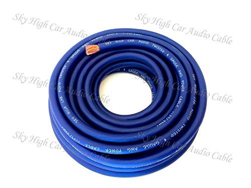 5 ft CCA 4 Gauge Oversized BLUE Power Ground Wire Sky High Car Audio (4 Gauge Car Speaker Wire compare prices)