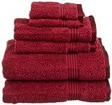 Superior Egyptian Cotton 6-Piece Towel Set, Burgundy