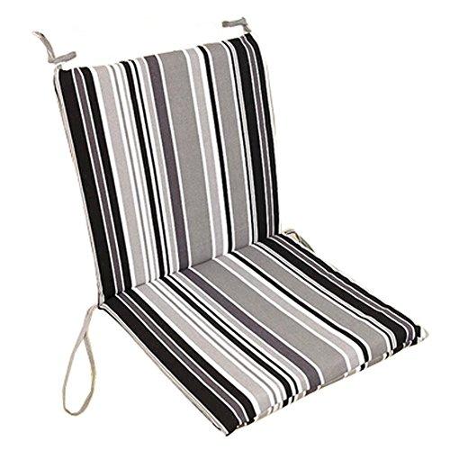 Soft Home/Office Seat Cushion High Back Chair Cushion Fashion Stripe,Black&Gray