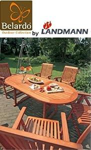 7tlg. Belardo by Landmann Sitzgruppe Tisch + 6 Stühle Ausziehtisch Garten StuhlKundenbewertung und weitere Informationen