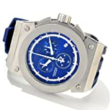 Invicta Mens Reserve Akula Swiss Made Chronograph Stainless Steel Blue Silicone Watch 1357