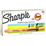 Sharpie 28006 Accent Pen-Style Retractable Highlighter, Fluorescent Orange, 12-Pack