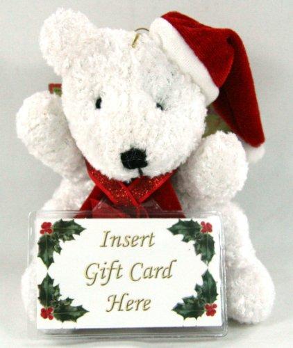 Adorable Plush Teddy Bear With Gift Card Holder Christmas Holiday