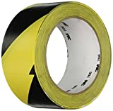 "3M 766 Black & Yellow Hazard Warning/Safety Stripe Tape 2"" x 36 Yard (Single Roll)"