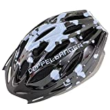 DOPPELGANGER ヘルメット S-Lサイズ [頭周囲:54~59cm] 重量約250g軽量仕様 サイズ調整可能 取り外し可能専用バイザー付属 蒸れ防止ベンチレーションホール配置 衝撃吸収インナーパッド DH003
