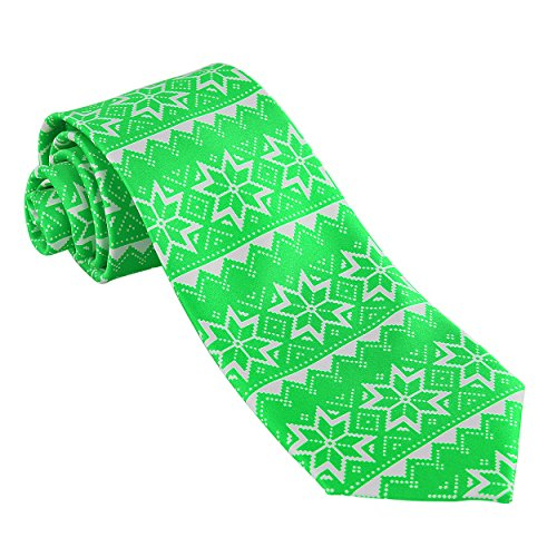 John William Mens Christmas Necktie Ugly Sweater Tie (Green) (Ugly Ties For Men compare prices)