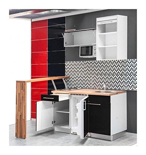 Mebasa MCFT140BS Küche, Hochwertige Einbauküche, Moderne Miniküche ... | {Miniküche design 94}