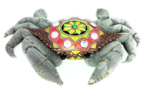 Crab Beaded Jewel Table Art Decor Statue Figure Figurine D34095