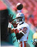 Jerry Rice San Francisco 49ers Autographed/Hand Signed 8×10 Photo -About to make a Catch-