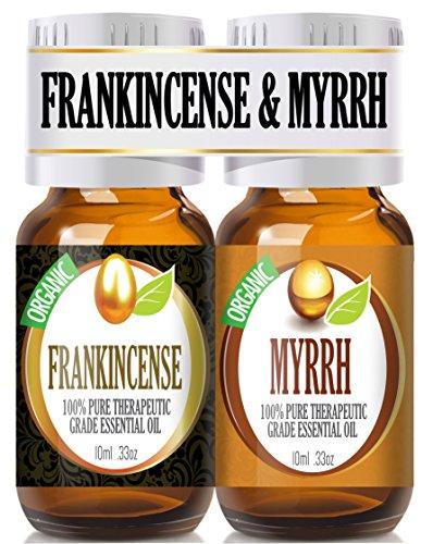 Frankincense And Myrrh Essential Oil Combo Pack (Organic) 100% Pure, Best Therapeutic Grade Essential Oil - 2/10Ml