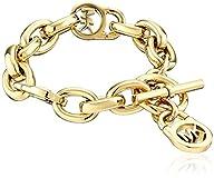Michael Kors Gold Tone Logo Lock Link…