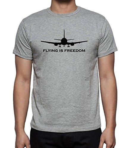 flying-is-freedom-mens-tshirt-grau-l