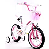 "R BABY PRINCESS PINK GRIL'S BIKES IN SIZE 12"" 14"" 16"" & 18""+ Adjustable removable stabilisers+ front pink basket."