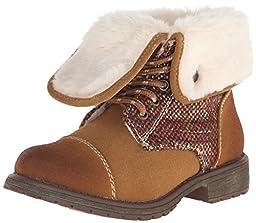 Roxy Girl Tamarac Wool Boot (Little Kid/Big Kid), Tan, 5 M US Big Kid