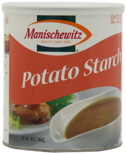 MANISCHEWITZ Potato Starch Canister, 16-Ounce (Pack of 4) (Potato Corn Starch compare prices)