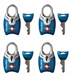 Master Lock 4689Q TSA Accepted Padlocks with Keys 4-Pack (Colors May Vary) thumbnail