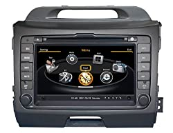 See SDB Car DVD Player With GPS Navigation(free Map) For Kia Sportage 2010,2011 Audio Video Stereo System with Bluetooth Hands Free, USB/SD, AUX Input, Radio(AM/FM), TV, Plug & Play Installation Details