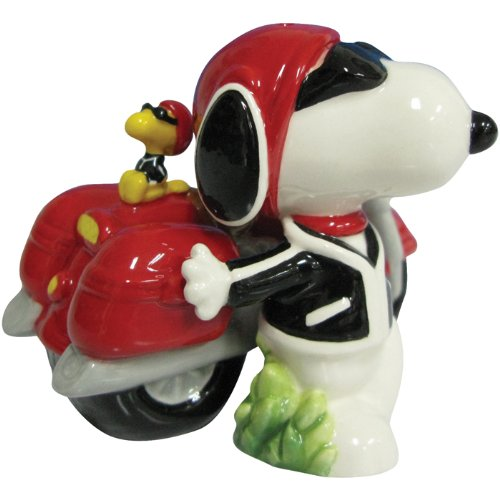 Westland Giftware Peanuts Magnetic Joe Cool and Motorcycle Salt and Pepper Shaker Set, 3-Inch