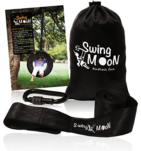 Discover Bargain Tree Swing Hanging Kit - 1000 lbs. Single 6 ft. Strap with Heavy Duty Carabiner - E...
