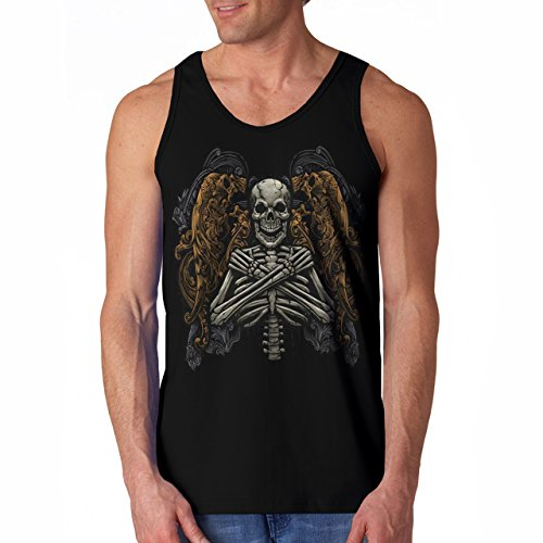 Wellcoda | Monster Skeleton Afterlife Curse Mens NEW Tank Top Black S-2XL