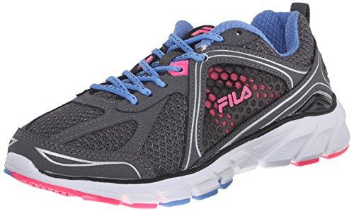 Fila Women's Threshold 3 Running Shoe, Castlerock/Marina/Knock Out Pink, 6.5 M US