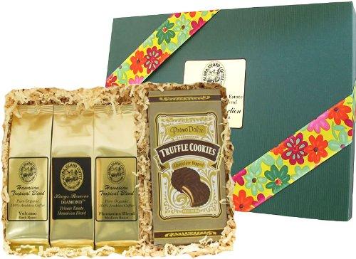 Kona Smooth Hawaiian Coffee & Cookies Sampler