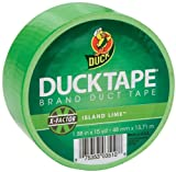 Duck Brand 1265018 Neon Colored Duct Tape, Lime, 1.88-Inch by 15 Yards, Single Roll
