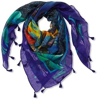 Desigual - mileto - foulard - imprimé - femme - bleu (marino) - taille unique